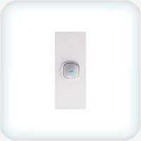 Opal Single Gang Architrave - LED Push Button