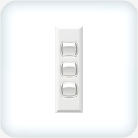 Powerclip Three Gang Switch Architrave 10A