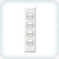 Powerclip Four Gang Switch Architrave 10A