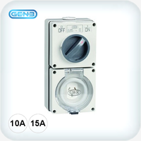 3 Pin Combination Switched Sockets 250VAC IP66
