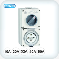 4 Pin Combination Switched Sockets 500VAC IP66