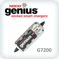 Genius 7.2A (7200mA) 12V and 24V Battery Charger