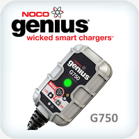 Genius 0.75 Amp 6V and 12V Ultrasafe Battery Charger and Maintainer
