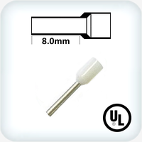 0.5mm² Bootlace Pin White Pk100