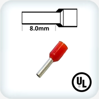 1.0mm² Bootlace Pin Red Pk100