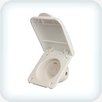 Caravan 250VAC 10A Outlet Hinged Cover