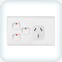Powerclip Single GPO with Two Extra Switches 10A
