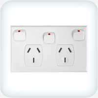 Powerclip Double GPO with Extra Switch 10A