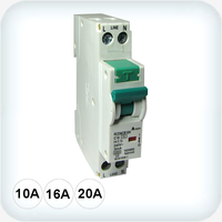 4.5kA Single Pole RCD/MCB