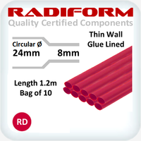 RDW Red 24 to 8mm x 1.2m 10 Length Pack
