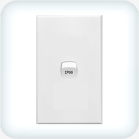 Neptune Single Gang Switch 10A Weatherproof IP66