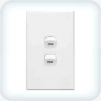 Neptune Two Gang Switch 10A Weatherproof IP66
