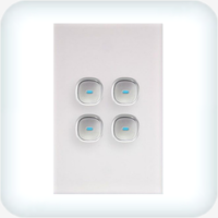 Opal Four Gang Switch - LED Push Button