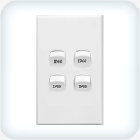 Neptune Four Gang Switch 10A Weatherproof IP66