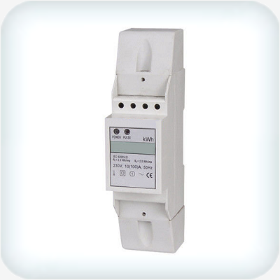 Single Phase kWh Meter DIN Rail 230VAC 10A