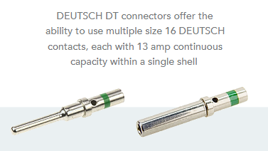 Deutsch pin and socket contacts