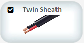 twin sheath automotive cables