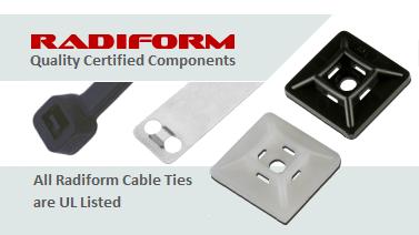 Radiform Cable Ties are UL Listed