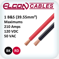 Battery and Starter Cable 1AWG 30m Rolls