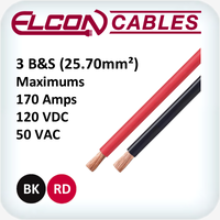 Battery and Starter Cable 3AWG 30m Rolls