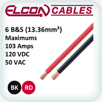 Battery and Starter Cable 6AWG 30m Rolls