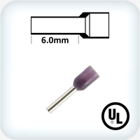 0.25mm² Bootlace Pins 6mm Lgth Violet Pk100