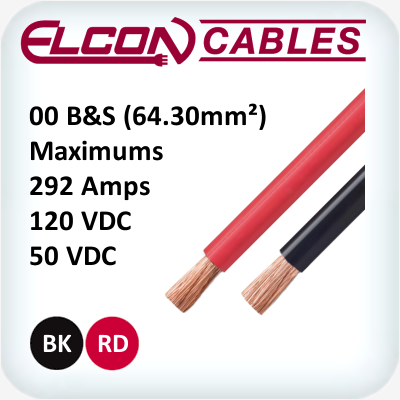 Battery and Starter Cable 00 AWG 30m Rolls